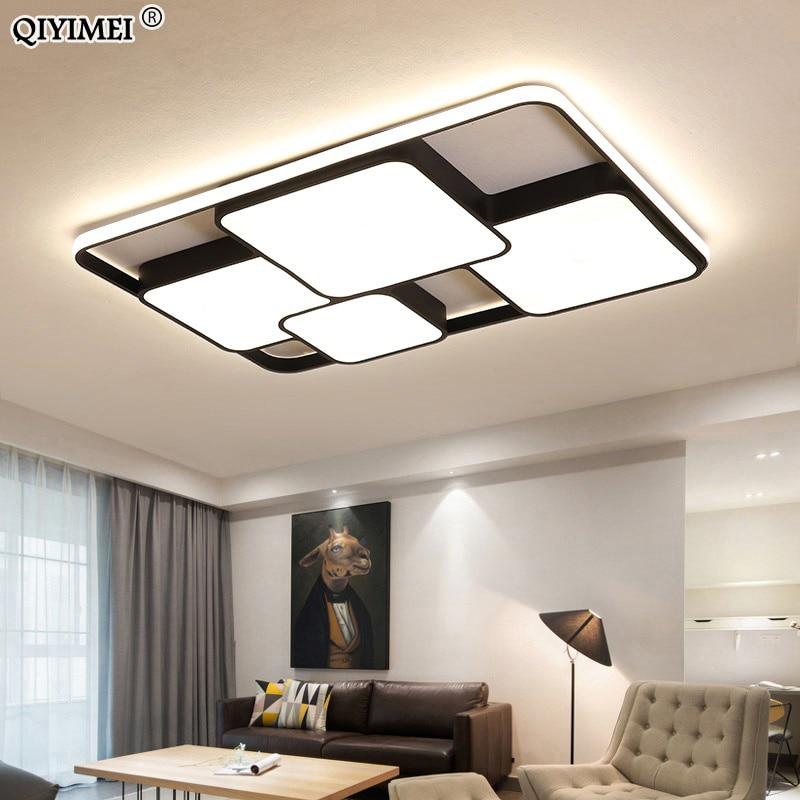 White Black Painted Modern LED Chandelier Lights For Bedroom Study Room Dining Room Lighting AC85-260V Home Chandelier Fixtures