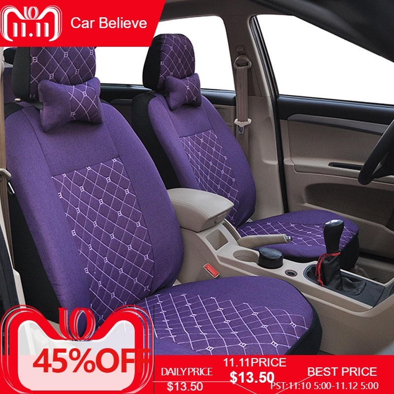 Car Believe car seat cover For Toyota corolla chr auris wish aygo prius avensis camry 40 50 accessories covers for vehicle seat цены
