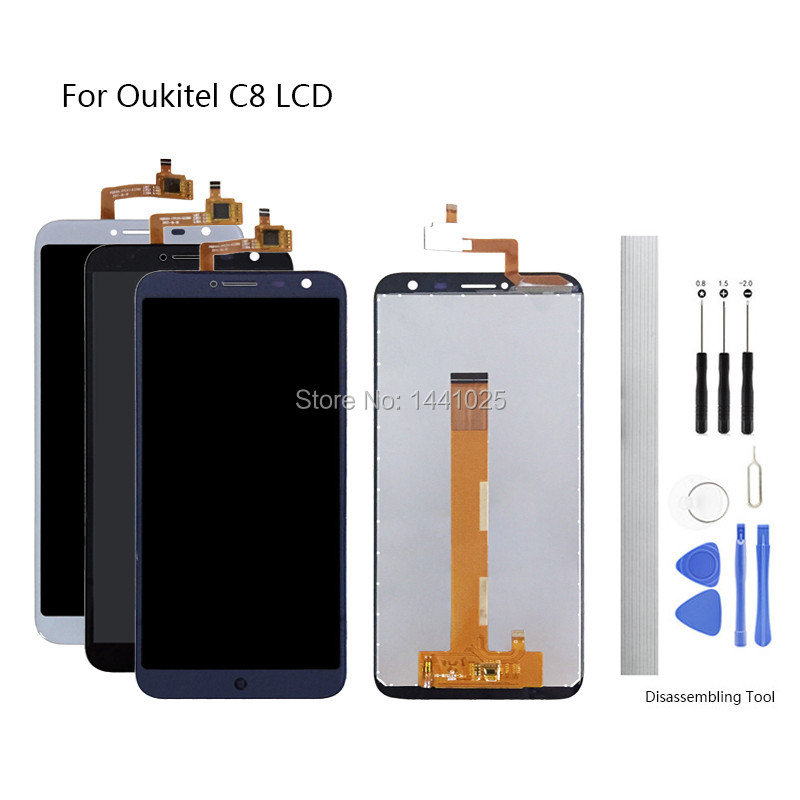 Display Screen Replace for Oukitel C8 LCD Touch Screen 5.5 inch black white blue  for Oukitel C8 LCD Touch Screen Display Screen Replace for Oukitel C8 LCD Touch Screen 5.5 inch black white blue  for Oukitel C8 LCD Touch Screen