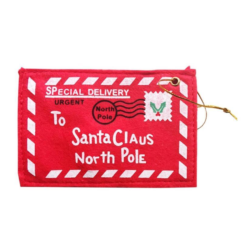 Non-Woven Christmas Envelope Pendant Gift Candy Bags Tree Party Hang Decor