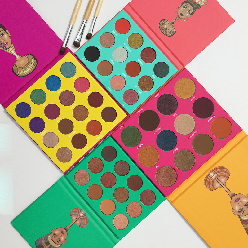 LUTER 6 9 12 16 Color Eye Shadow Makeup Palettes Waterproof Earth Warm Shimmer Matte Powder
