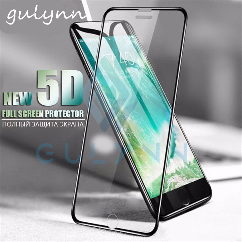 5D Aluminum Alloy Tempered Glass For iPhone 6 6S 7 8 Plus Full Screen Protector Protective Film For iPhone X 8 Glass Cover Film image