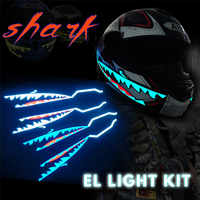 Shark Style Motorcycle Helmet Light Strip LED Night Signal Light Stripe Glowing Night Luminous Modified Strip Helmet Sticker