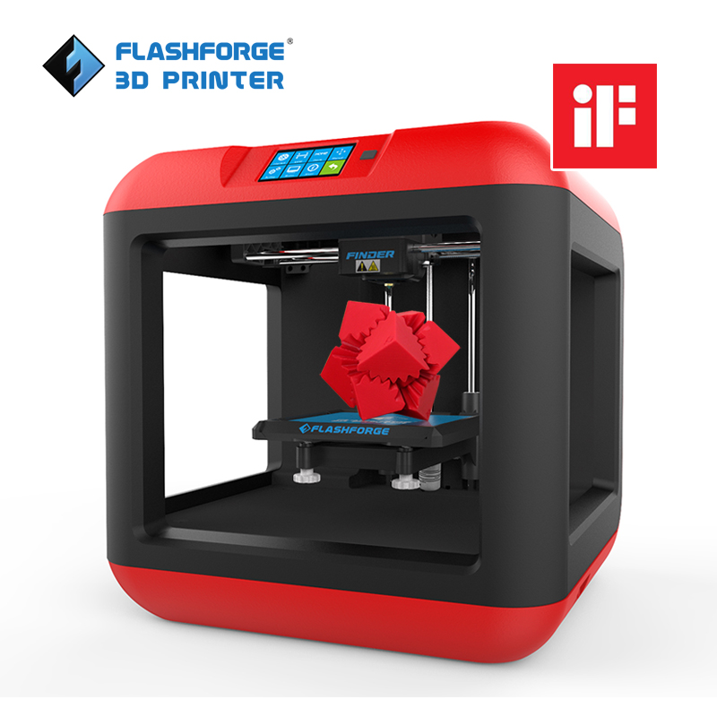 Flashforge Finder 3D Printer Auto Leveling Removable platform Single extruder with 1 spool PLA filament