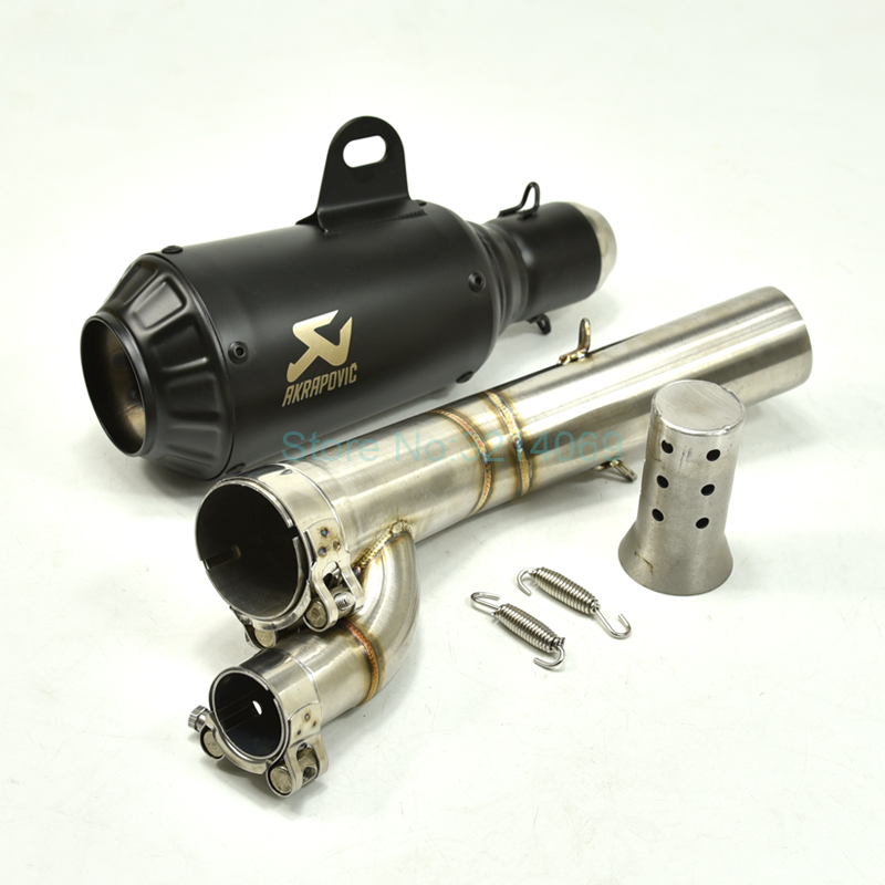MOKALA SPEED <font><b>S1000RR</b></font> Motorcycle <font><b>Exhaust</b></font> System <font><b>2017</b></font> <font><b>2018</b></font> Stainless Steel Middle Link Pipe Universal 51mm Black Akrapovic Escape image