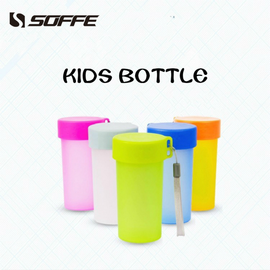 Soffe 330ml Bpa Free Plastic Kids Water Bottle For Child With Lid Rope Shaker Protein Tour My Drink Bottle School office home