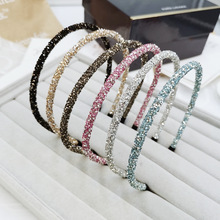 Headband Rhinestone Korean Style Women Studded Hairbands Ladies Kpop Elastic Diamond Hairband Summer Fashion Hair Accessories