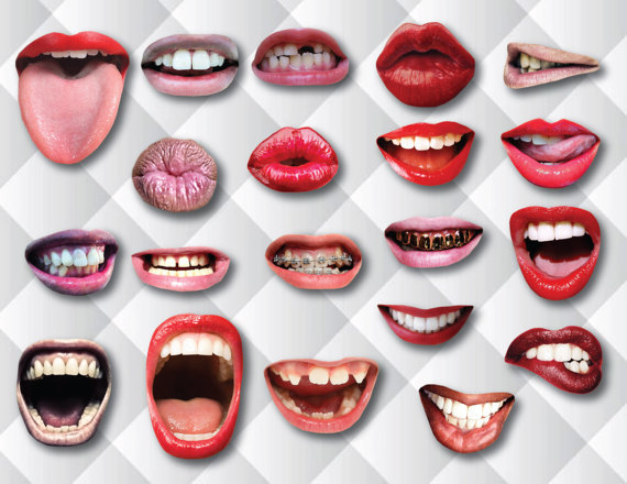 20Pcs Women Girls Decoration Party Supplies Funny Lip Mouth DIY Photo Props Booth On A Stick