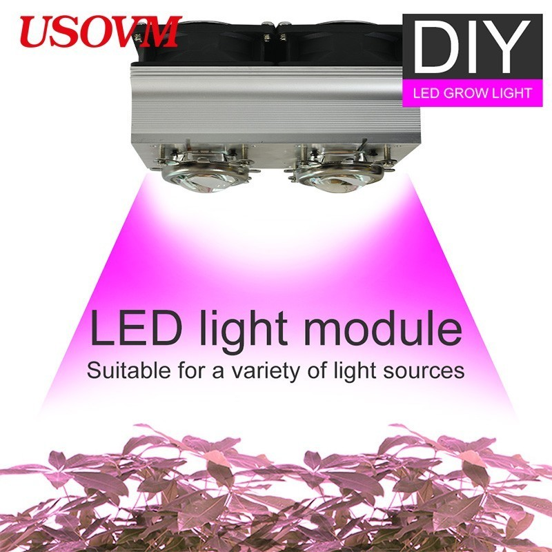 DIY Module Bricolage Dimmable Meanwell CREE CXB3590 COB LED Grow  Light 100W 200W Growing Lamp Indoor Plant Full Spectrum Tent
