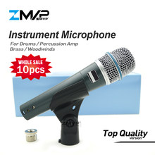 10pcs/lot Top Quality Version Supercardioid B 57 A Professional Instrument Microphone 57A Drums Percussion Dynamic Microfone Mic(China)