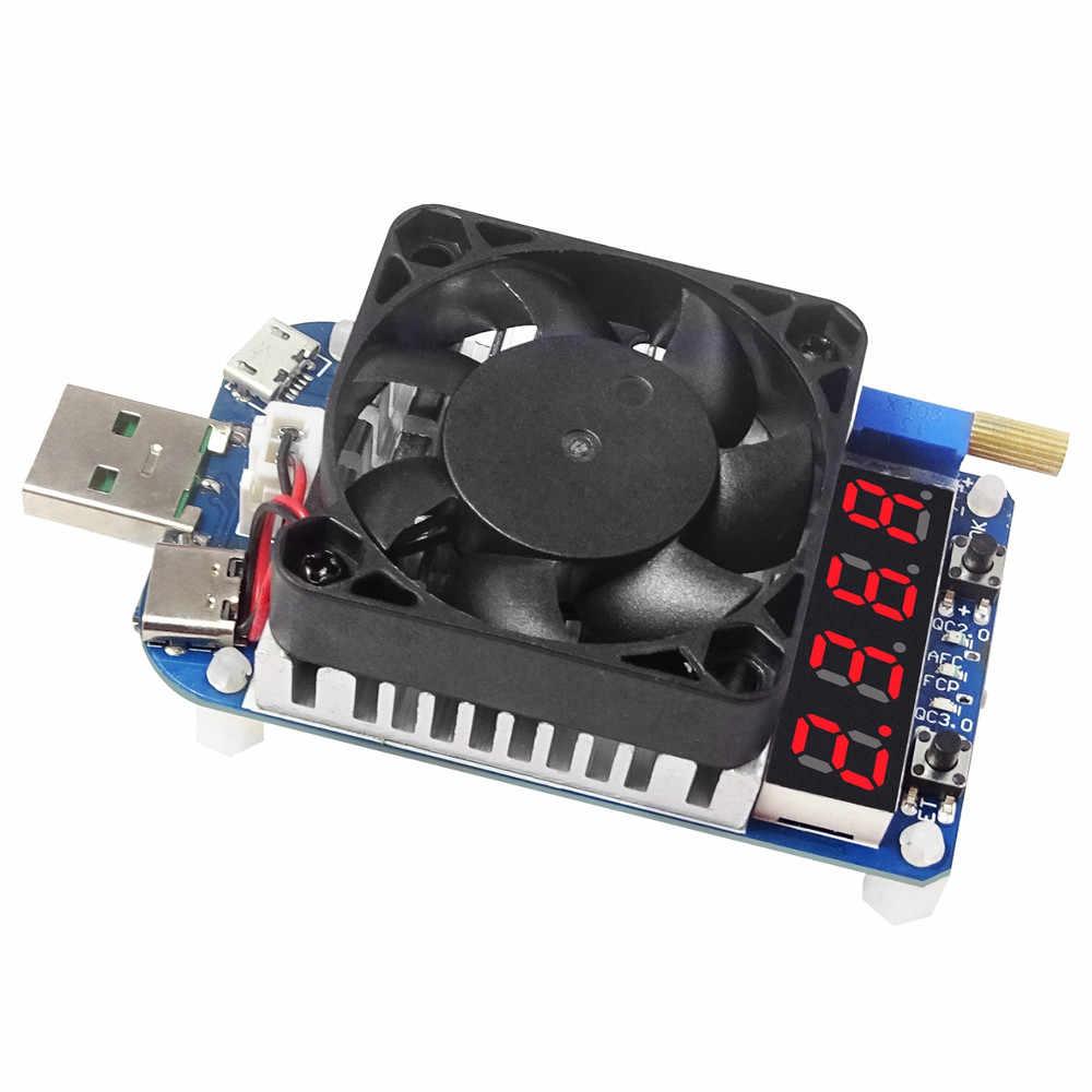 HD25/HD35 USB Электронная нагрузка дисплей цифрового вольтметра измеритель величины тока Батарея старения детектор регулируемый резистор