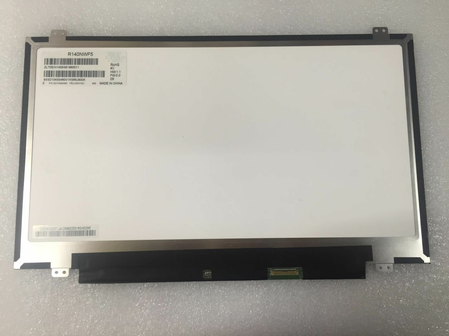 Touch Screen Digitizer Assembly for R140NWF5 LCD with LED display for Lenovo Fru 00NY421 PN SD10K93460