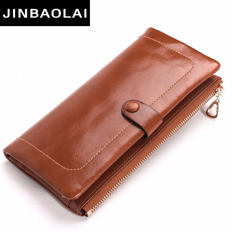 Fashion Wallet Women Luxury Female Carteira Feminina Long Wallets Ladies Oil Leather Zipper Purse Card Holders Clutch Money Bags tangimp cool cat purse vintage wallets 2017 women men canvas storage bags monederos card bags bolsas carteira feminina fresh