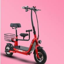 Folding electric bicycle lithium battery moped mini adult car men and women small