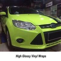 Высокий блеск бутоны зеленый винил обертывание автомобиля обертывание Стайлинг обновление клей с выпуском воздуха Полный автомобильный ч