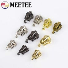 Meetee 20pcs 3# 5# Metal Nylon Resin Zipper Sliders Luggage Clothing DIY Hardware Pull Handmade Crafts Accessories AP568