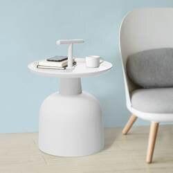 Современный пластиковый боковой чайный журнальный столик кровать диван торцевой стол SoBuy FBT72-W