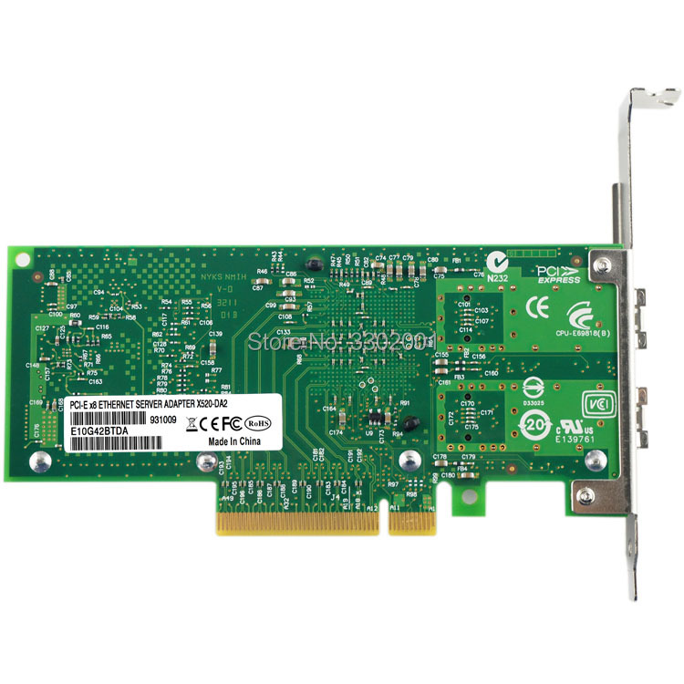 Image 3 - FANMI  X520 DA2 10GBase PCI Express x8 82599ES Chip Dual Port Ethernet Network Adapter E10G42BTDA,SFP not included-in Network Cards from Computer & Office