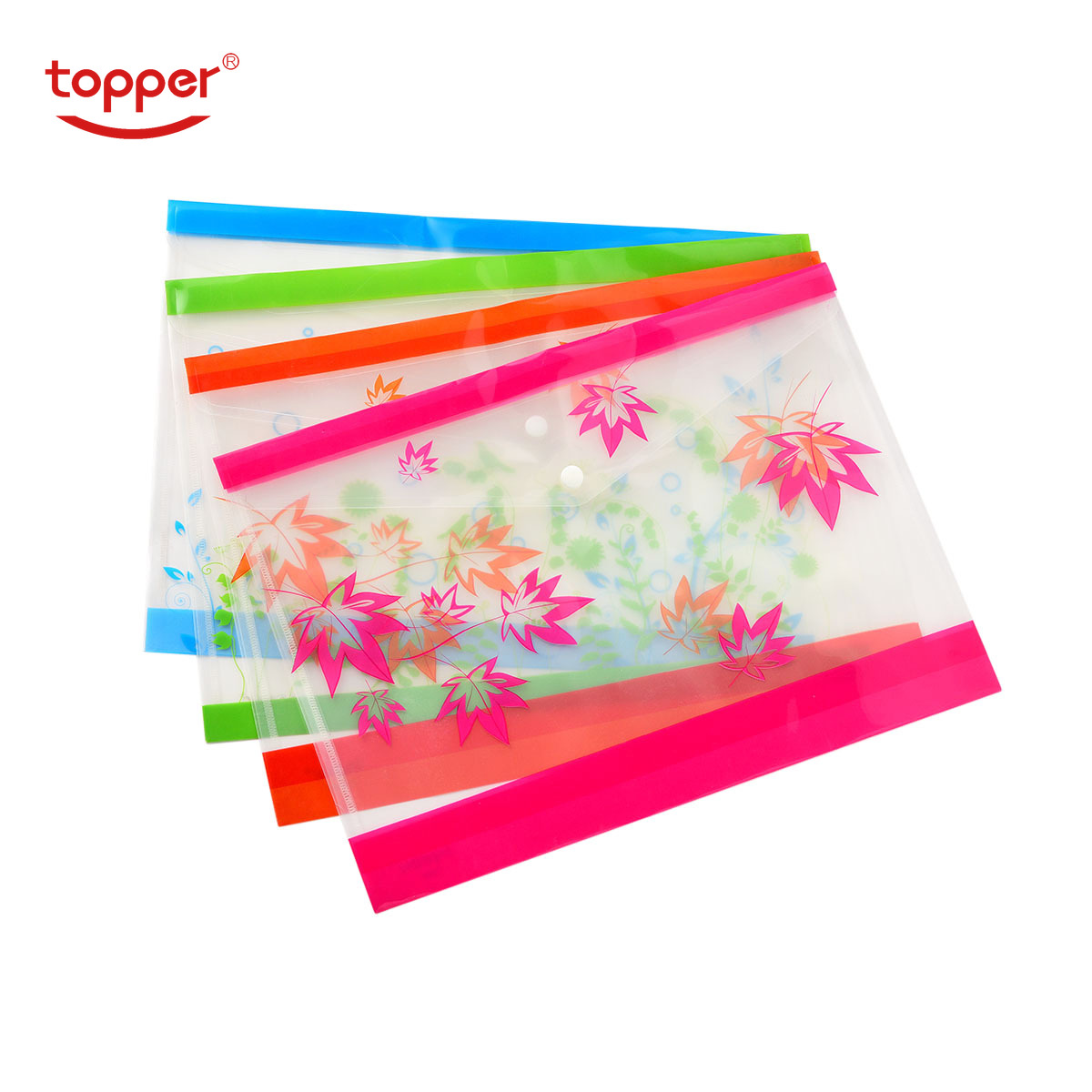 12pcs/set Freeshiping FC/A4 Size Transparent Printed  Document Bag File Folders Filing Paper Storage Office School Supplies