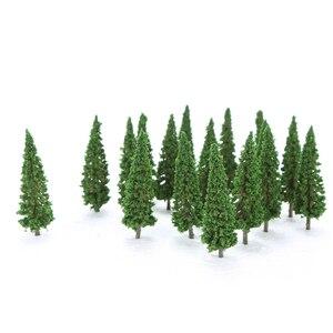 Image 5 - 150 個hoスケールのプラスチックミニチュアモデルの木を構築するための列車鉄道レイアウト風景風景のアクセサリーのおもちゃ子供