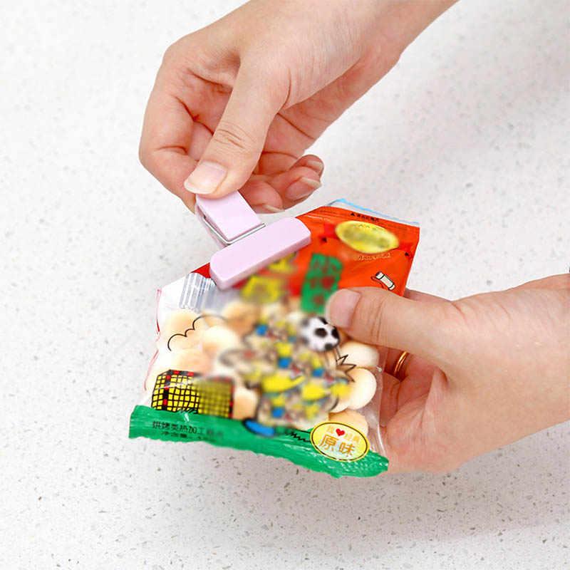 12 個ポータブル食品グレード真空シールクランププラスチックミニバッグクリップ食品収納袋シーラーキッチンツール