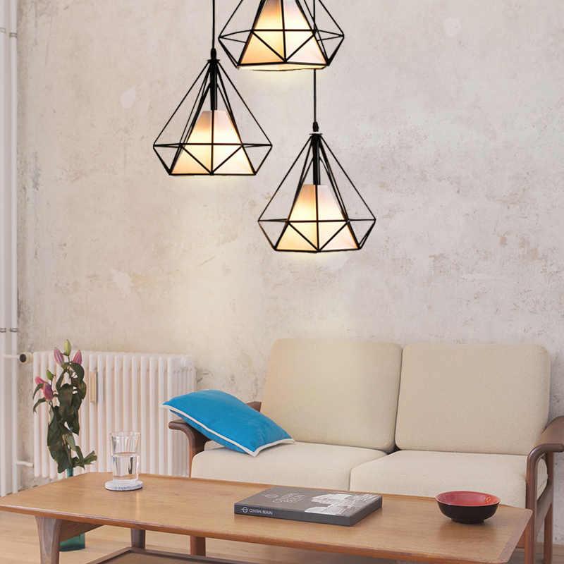 Kaguyahime Retro loft przemysłowe rocznika lampa w kształcie wiszącej klatki E27 żelaza światła wiszące lampy wiszące dla lada do restauracji i baru lampa
