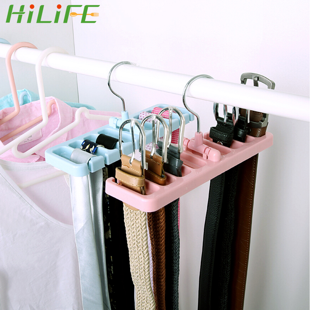 HILIFE Laundry Hanger Home Storage Wardrobe Rack Rotating Drying Rack Scarf Hanger Tie Belt Organizer Clothes Holder