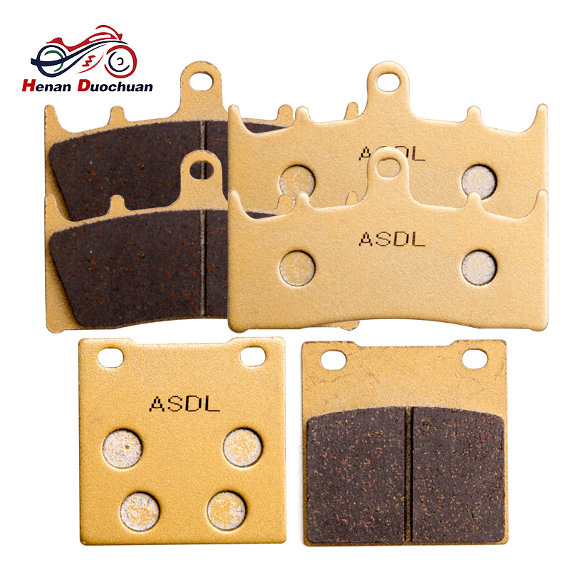 6pcs Motorcycle Front Rear Brake Pads For <font><b>suzuki</b></font> <font><b>GSXR</b></font> <font><b>1100</b></font> WP/WR/WS/WT GSX 1300 RX/RY/RK1/RK2/RZK3/RK3/RK4/RK5/K6/K7 Hayabusa #c image