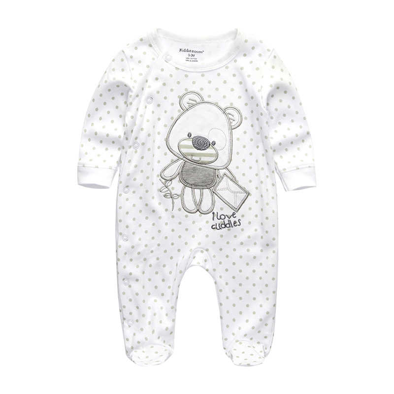 2020 Baby Rompertjes Pasgeboren Baby Meisje Kleding Volledige Mouw Baby Boy Kleding Roupas De Bebe Katoen Uitloper Lente Herfst Pyjama ster
