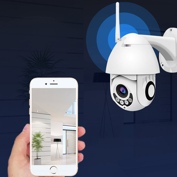 HD 1080P Wireless Camera Motion Detection Alarm Speed Dome Outdoor Wifi Wireless Pan Tilt IP Camera Audio Support SD Card Vision