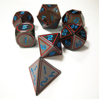 Dragons And Dungeons Originality TRPG Board Role playing Games Dice Metal Game Dice DND Khonsu Lu Calling Run Group Shai