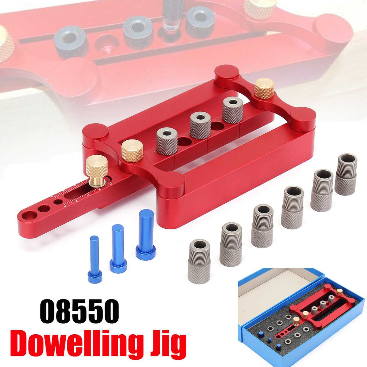 Self Centering Dowelling Jig Metric Dowel 6/8/10mm Drilling Tools for Wood WorkingSelf Centering Dowelling Jig Metric Dowel 6/8/10mm Drilling Tools for Wood Working