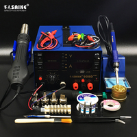 3 in1 SAIKE 909D + + фена паяльная станция De паяльная станция DC регулируется питания 15 В 2A