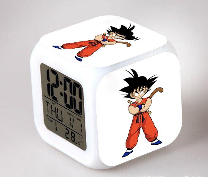 Anime Dragon Ball Alarm Clock Dragon Ball Z 7-Color Changing Clock in Box Gift
