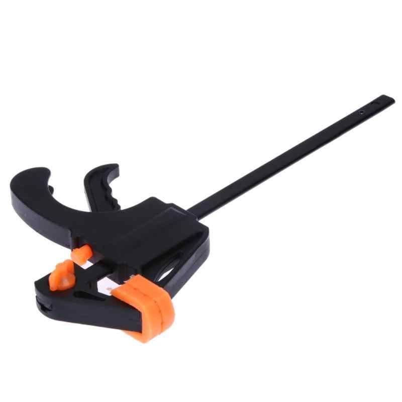 Baru Klip Cepat Ratchet Rilis Kecepatan Memeras Kayu Kerja Bar F Clamp Klip Kit Penyebar Gadget Alat DIY Tangan 4 Inch