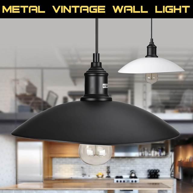 Smuxi Vintage Industrial Pendant Light Home Room Retro Ceiling Pendant Lamp Fixture