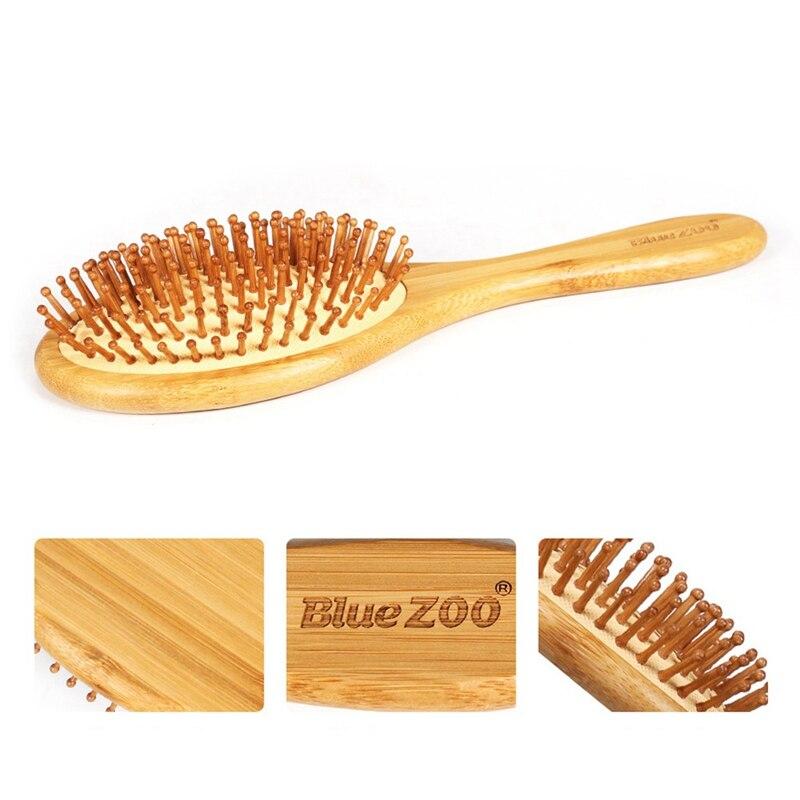 Cushion Hair Brush Bamboo Airbag Tangle Comb Detangle Anti-frizz Hairbush Massage Head Scalp Relax Promote Blood Circulation