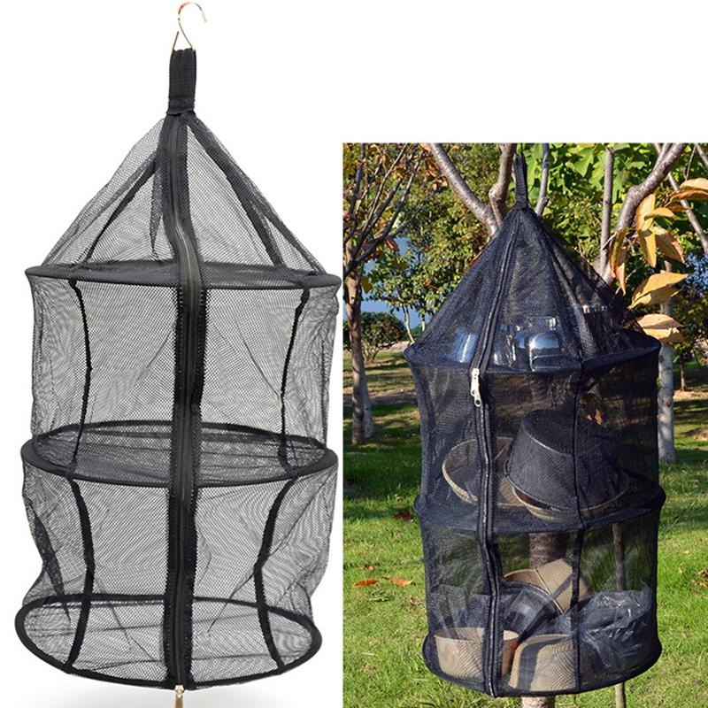 Durable Lightweight 3 Layer Camping Dry Net Hanging Net Storage Basket For Fishing Camping Traveling Outdoor