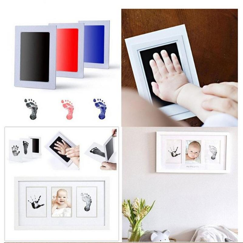 Anti-Virus Infection Baby Hand-Foot-Printing Hand-Printing Toys Table Baby Hand-Printing-Free Printing Ink Footprint Kit Toy