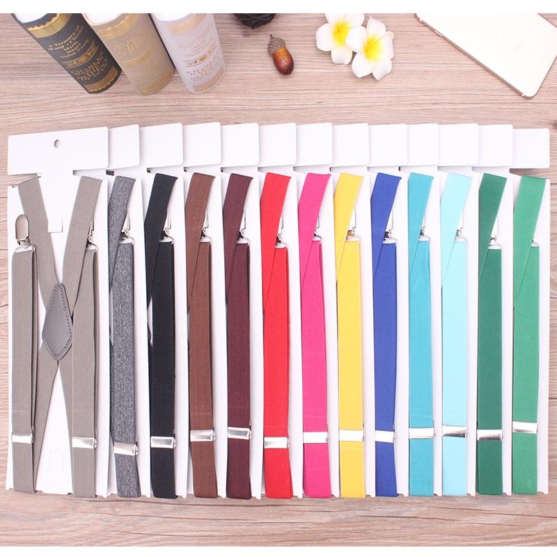 Men 4 Clip Braces X-back High Elastic Adjustable Suspenders For Pants Men's Fashion Brace For Bridegroom 2.5cm Width Casual Wear