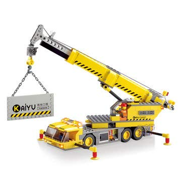 Model & Building Toys Blocks Toys Kazi Engineering Crane Building Block Sets Toy Educational Gift 8045 Fidget Toys 280Pcs