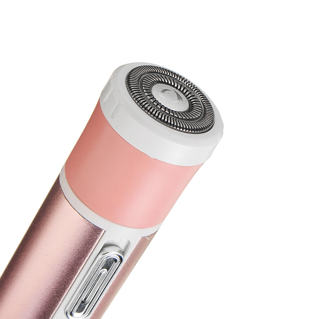 4 IN 1 Women Shaver Painless Face Eyebrow Hair Remover Wet Dry Trimmer Epilator 3 Head 220V-240V Waterproof EU Plug Smoothly 4