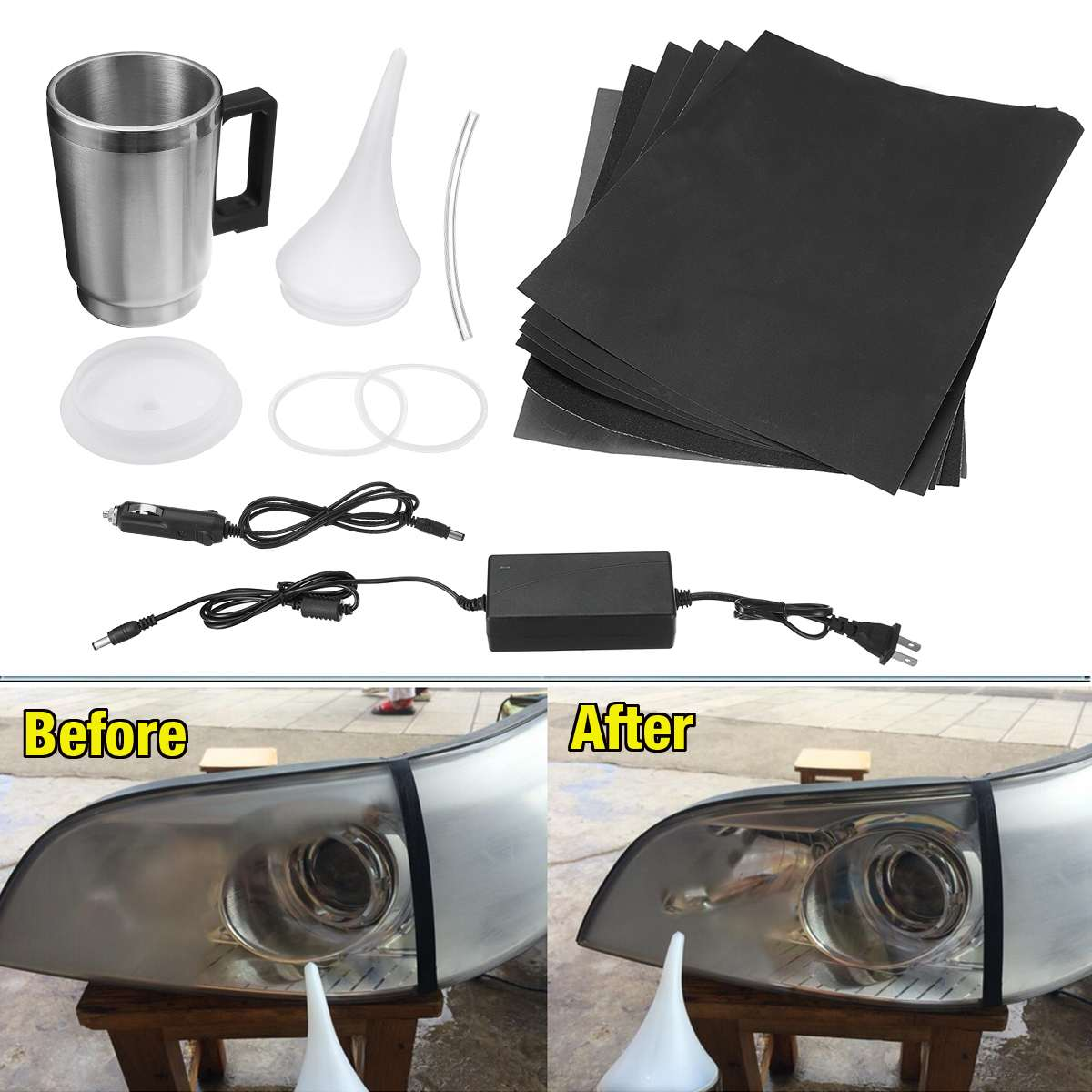 New 2 Styles Cover Car Headlight Refurbished Electrolytic Atomized Cup Headlamp Repair Liquid Repair Tool