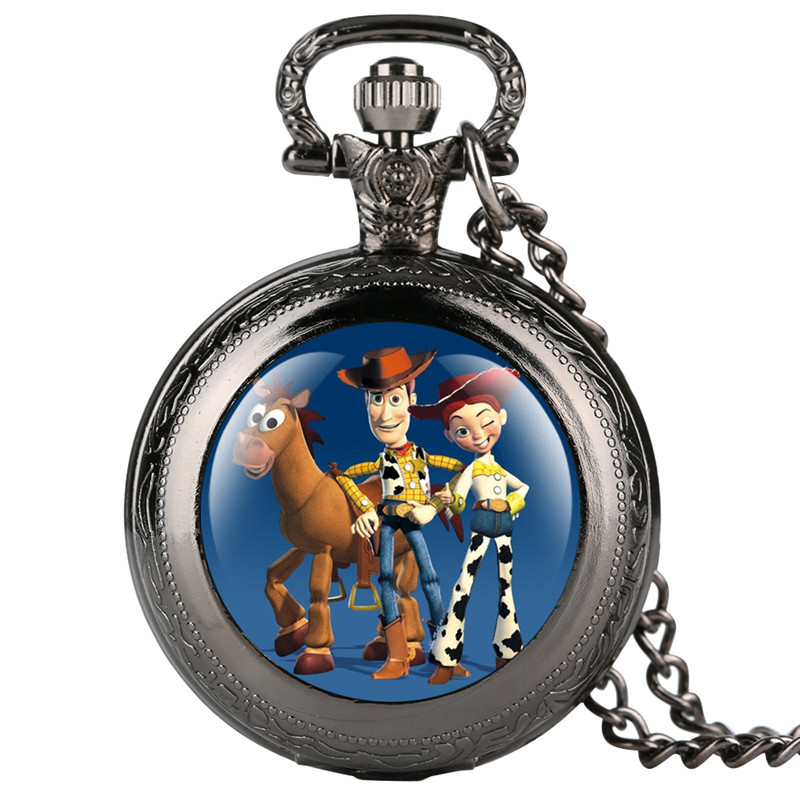 Skyrim Pokemon Cartoon Pattern Pocket Watch For Kid Originality Quartz Pocketet Watches For Teenagers Gift For Pocket Watch