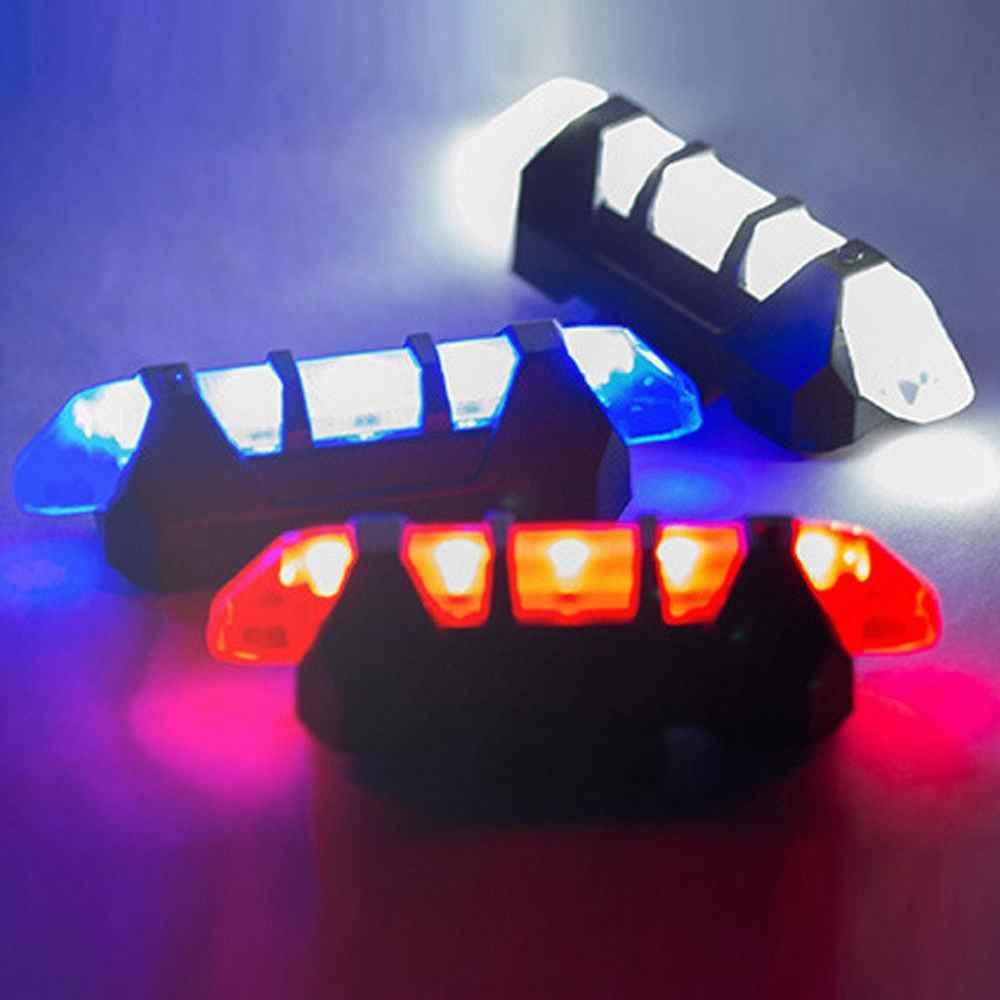 Claire rower światła LED tylne światło tylne ostrzegawcze bezpieczeństwa jazda na rowerze lampka przenośna USB akumulator wodoodporna lampka ostrzegawcza