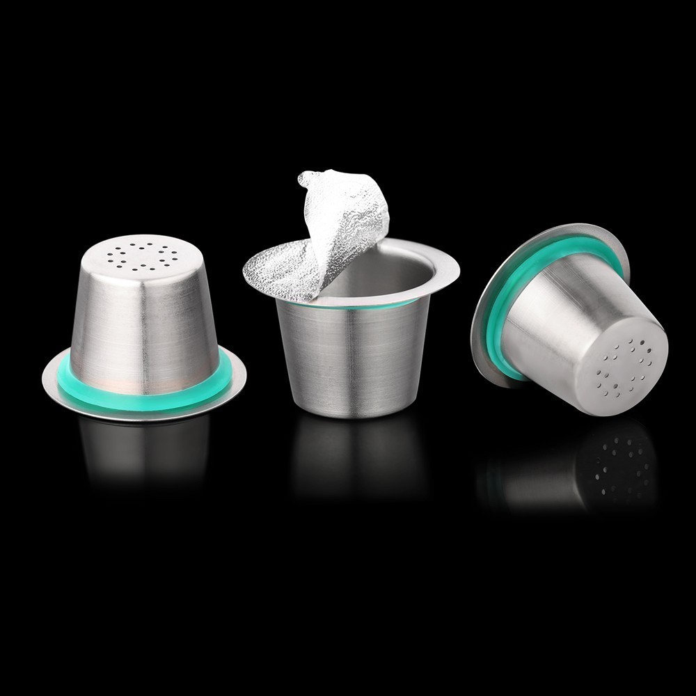 24PCS Nespresso Coffee Pods Stainless Steel Refillable Capsulas Nesspreso Reusable Coffee Filter Cup New DIY Coffee Maker Tools 24PCS Nespresso Coffee Pods Stainless Steel Refillable Capsulas Nesspreso Reusable Coffee Filter Cup New DIY Coffee Maker Tools