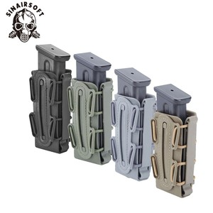 Hot 9mm Molle Pistol Mag Military Magazine Pouch Holster Fastmag With Belt Clip And Molle Soft Shell Mag Pouch Plastic Pouch