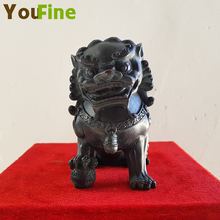 YOUFINE Selling small pieces bronze Chinese lion sculpture home interior decoration copper animal decorations