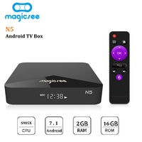 MAGICSEE N5 Smart TV Box Android TV Box Amlogic S905X Android 7.1.2 2GB RAM 16GB ROM 2.4G 5G WiFi 100Mbps BT4.1 Set Top Box