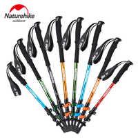 Naturehike 1pcs Adult Child Alpenstocks Ultralight Trekking Folding Pole Walking Hiking Sticks Camping Family Alpenstocks NH17D0